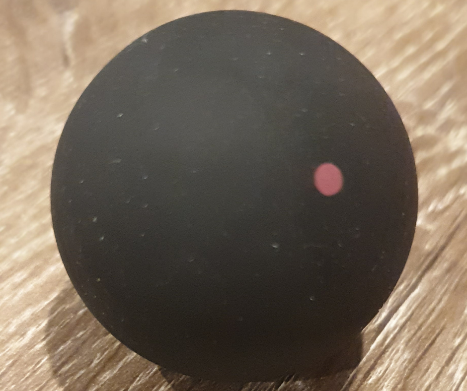 The Red dot type of squash ball